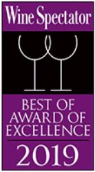 2019 Wine Spectator Best of Award in Excellence